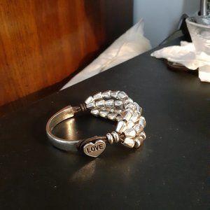 Jewelry - Fabulous silver(plated) & leather bracelot